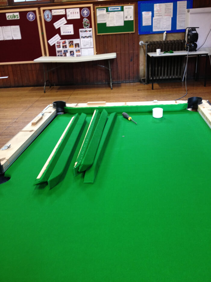 Pool Table Recovering And Pool Table Repair - Billiard table recovering