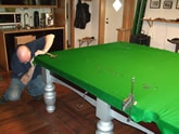 We fit brand new cloth during each snooker table recovering we undertake.